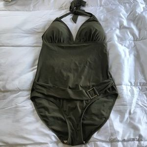 NEXT olive one piece swimsuit